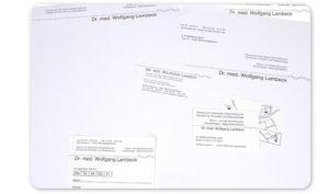 Print-Realistion Geschäftsausstattung Praxis Dr. med. Wolfgang Lambeck