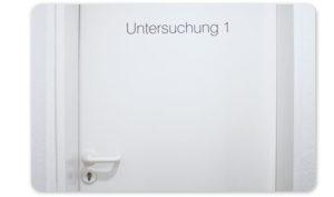 Werbetechnik Türfolierung Praxis Dr. med. Wolfgang Lambeck